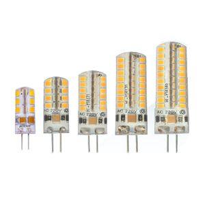 G4 G9 LED SMD 2835 AC DC 12V AC 110V \ 220V галогенные лампы свет 360 Угол луча Рождество светодиодные лампы лампы