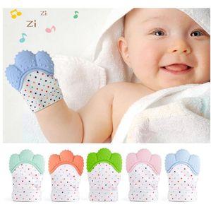 Новый силиконовый прорезыватель Pacifier младенца перчатки прорезывания зубов жевательные прорезыватель младенческой новорожденных кормящих бусины BPA бесплатно пастель 5 цветов