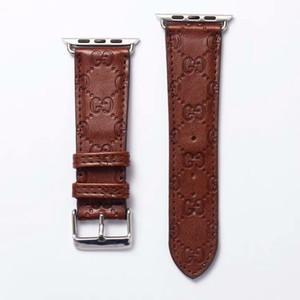 Für iwatch Series5 Designer Uhrenarmbänder 40mm 44mm Top-Qualität Lederband für iwatch Series4321 Luxus-Armband-Bügel 38mm 42mm