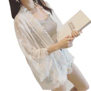 2020 harajuku bomber laser loose sunscreen couples coat silver cardigan couples stage dance show outwear tops Chiffon Kimono