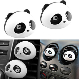 2PCS Original Panda Cute Car Perfume Air Freshener Auto Decora Accessories Black