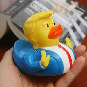 Виниловые Duck Ванна Игрушка Пвх Trump Duck душ Плавучий президент США Doll душ игрушки воды новизны Детские подарки Украшение коллекции HH9-3065