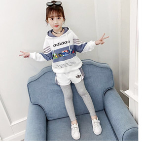 New girl Classic high quality suit Hooded bodysuit with classic letter print and color matching 031406
