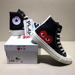 DSM Dior Converse CDG Play 1970S Designer Chuck All Star Taylors Ortholite High Top Hi Low Trainers Luxury Triple Men Women Casual Shoes Sneakers Running Shoes 35-44