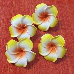 100pcs 6cm capi artificiale hawaiano Foam Frangipani Plumeria fiori per capelli fai da te accessori da sposa decorazioni falsificazione fiore