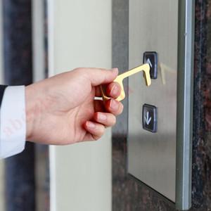 Door Opener Nenhum contato abridor de porta da EDC porta mais perto botão de ferramenta No-Touch Tool for Mão Higiene Keychain Imprensa Elevador para manter as mãos Segurança