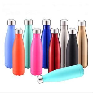 Sport Water Bottle BottVacuum Cup Coke Shape Stainless Steel Matte Tumblers Coke Water Coffee Beer Mug Glossy Cups WY70Q