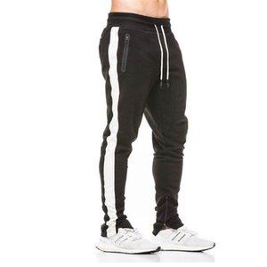 Наньшацюньдао Хлопок Мужчины Jogger спортивной брюки 2020 Новая осень Mens Sweatswear штаны печати Боковые полосы Карманы Мужчины Урожай Sweatpant