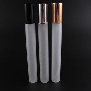 20 ml Buzlu Cam Sprey Şişe Boş Parfüm Şişesi Atomizer Slivery Glod Cam Parfüm Şişeleri Kozmetik Parfüm Konteyner HHA505