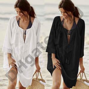 Pamuk Tunikler Plaj Kadınlar için Mayo Kapak up Kadın Mayo Plaj örtbas Beachwear Pareo Plaj Elbise Saida de Praia