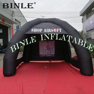 4 m pas cher de haute qualité gonflable Spider Tent noir tente gonflable arch avec 2 fenêtres claires station d'événement pour la publicité extérieure