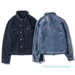 Herren Luxuy Jeansjacke Marke Designer-Jacke B Buchstabe-Druck Jean-Mantel-Männer Kleidung Frauen Vintage Style Selvedge Jean Coat B100320K