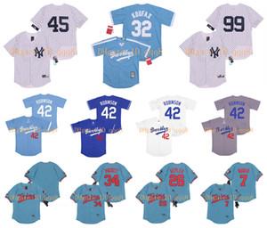 Brooklyn 42 Jackie Robinson Jersey 99 Aaron Juez 26 Max Kepler Kirby Puckett 34 Fernando Valenzuela 45 Gerrit Cole Gleyber Torres béisbol