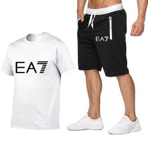 Hot Donne Uomini Tute manica corta casuale tops + pantaloncini due pezzi Jogger Set tuta tute Sportswear Running tute da jogging M-XXL