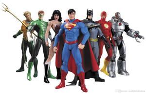DC Супермен Бэтмен Коллекционирование Лига Справедливости 7-Pack Фигурку Супермен Модель Коллекция Игрушек в Подарок 7 Шт. / Компл.