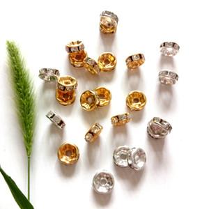 Venta al por mayor 1000 unids Crystal Rhinestone Spacer Beads suelta Spacer Beads para Diy joyería que hace la pulsera collar accesorios