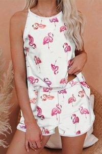 Новые Освобождаю для пижамы Tiedye для женщин Crew Neck Tie Dye Pajama Коротких наборов Tie Dye Пижама Цветочных печати Ночного Bwkf Hot