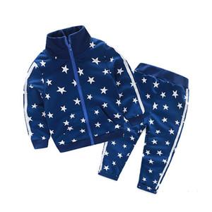 Bibicola primavera outono meninas meninas meninos conjuntos crianças estrelas esporte ternos casaco + calças 2 pcs roupas conjuntos crianças crianças
