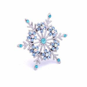 Transfronteiriça venda direta do vintage exagerada requintado broche de neve do Natal azul revestimento verde colar de diamantes pin BR001