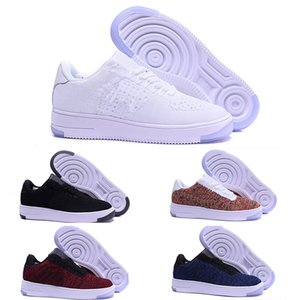 Nike air max force fly Moda Uomo Scarpe Low One 1 Uomo Donna Cina Scarpe casual Designer Royaums Tipo Breathe Skate knit Femme Homme
