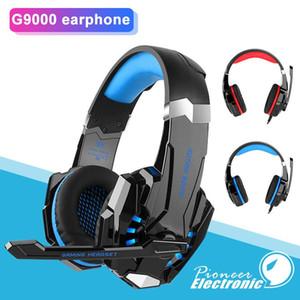 KOTION CADA estéreo G9000 ordenador Auriculares Gaming Headset Casque Deep Bass Juego de auriculares con micrófono de luz LED para PC Gamer Paquete