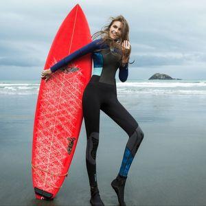 Hisea women Wetsuits 1.5mm Neoprene Elastic Swimming Surfing Spearfishing Suit Wetsuit Women Swimsuit Equipent Diving equipment