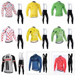STRAVA SUNWEB TOUR OF FRANCE الدراجات طويلة الأكمام جيرسي مريلة السراويل مجموعات الرجال في الرياضة يندبروف جيرسي S59026