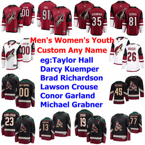Arizona Coyotes Ice Hockey Jerseys Men's Taylor Hall Jersey Jeremy Roenick Shane Doan Phil Kessel Oliver Ekman-Larsson Custom Stitched