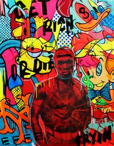 Timmy Petze Ölgemälde auf Leinwand-Wand-Dekor-Graffiti-Kunst Bart Simpson Zuhause-Wand-Kunst-Dekor Großes Bild 190922