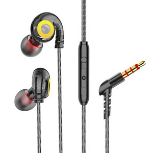 Alta calidad en la oreja los auriculares estéreo 6D Subwoofer Bass auriculares auriculares con micrófono para iPhone Xiaomi Deportes del auricular del juego de auriculares