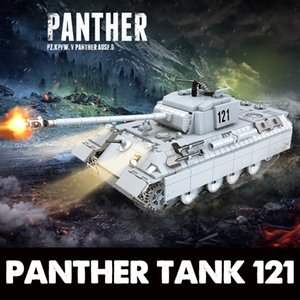 Réservoir Panther militaire 121 blocs de construction Legoing Technic Ville WW2 réservoir Soldat Arme Armée 100064 Bricks Jeux d'enfants