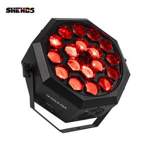 SHEHDS Led Bee Eye Moving Head Light 18x12W RGBW 4в1 Professional Stage Light Вихрь Par DJ Beam Wash Light Effect День Танца