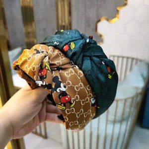 Mode Kopf-Band Top Knot Haarreif Turban elastische Streifen Haar Lünette Stirnband für Frauen Mädchen Druckkopfschmuck Haarschmuck
