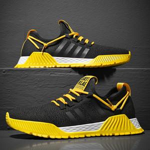 2020 G.N.SHIJIA моды Лучшие качества Летучий ткачество резиновая подошва черный желтый 72 Женщины Мужчины кроссовки Спорт кроссовки