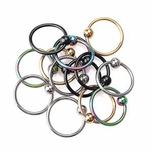 Плененное кольцо из бисера, серьги, губа, нос, хрящ, козелок, обруч, ушная полоска, украшения для тела, пирсинг на ухе, ювелирные изделия для женщин
