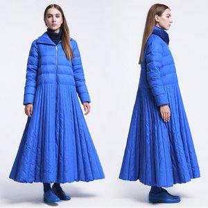 2019 Autunno Inverno Giù cappotto femminile Special Design Blue Coat XL casual Jacket Abbigliamento Donna Giù