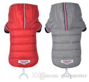 Escudo cálido algodón perro de mascota ropa de invierno perro perro de perrito de la moda con capucha de la chaqueta de los trajes de los nuevos del estilo