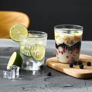 2 Adet Güzel Cam Kahvaltı Cup Coffee Tea Süt Yoğurt Mug Yaratıcı Günaydın Süt Mug Cam Bardak Hediyeler 450ml