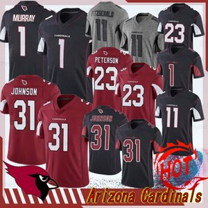 1 Kyler Murray Arizona Hombres fútbol jerseys 11 Larry Fitzgerald cardenal David Johnson 31 23 Peterson nueva jerseys del balompié cosido
