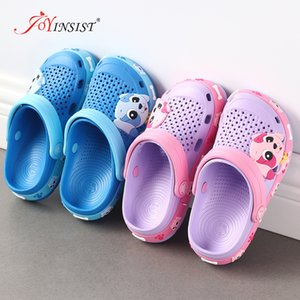 Slippers for Boy Girl Rainbow Shoes 2020 Summer Animal Kids Outdoor Baby Slippers PVC Cartoon Children's Beach Shoes Lovely