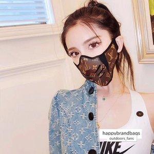de cuero de diseño, mascarillas de algodón, máscaras a prueba de polvo pueden utilizarse con mascarillas desechables,
