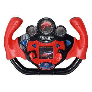 Children Simulation Steering Wheel Toy Music Funny Toy Red Sports Car Type