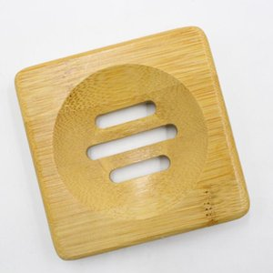 Natural Bamboo Wooden Soap Dish Wooden Soap Tray Holder Storage Soap Rack Plate Box Container For Bath Shower Bathroom Accessory VT0440