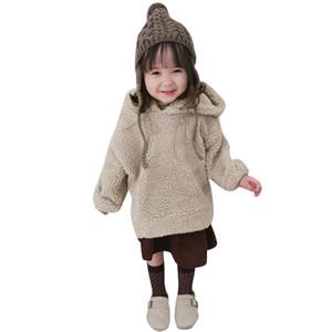 Hakiki MUQGEW Çocuk giyim Toddler Bebek Kız Erkek Polar Kapşonlu Kabarık Ceket Kazak Dış Giyim Kazak Çocuk Giysileri # 5L