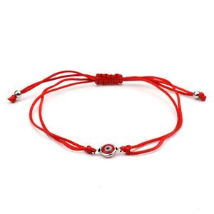 Braccialetti di fascino turchi di Evil Eye di Red / Black String per la fortuna di protezione Amuleto Baby filo rosso intrecciato a mano