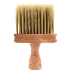 Cou visage Duster Brosse Salon nettoyage cheveux balayage en bois Brosse coupe de cheveux coiffure Cleaner cheveux Brosse à cheveux balayage Outils de peigne