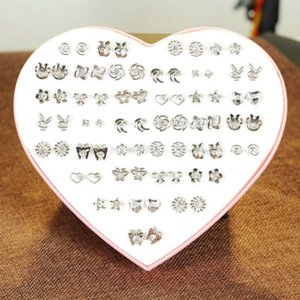 Us 349 36 Pairs Set Cute Small Crystal Stud Earrings Sets For Girls Kids Fashion Gold Silver Ear Jewelry With Heart Boxstud beauty888 ZTlVr