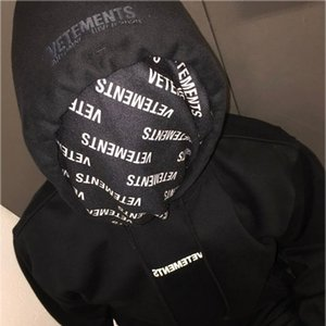 Hip Hop Vetements Hoodie Men Women 2020 Automne-Hiver Big Tag High Quality Cotton Embroidery Vetements Sweatshirts Pullover