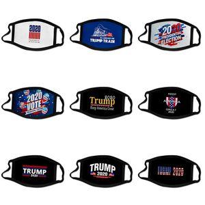Дизайнер Trump Face Mask моющийся Luxury Анти Dust Face эр пыле езда Спорт Anti-л Многоразовый Рот Ice Шелковый M # 656