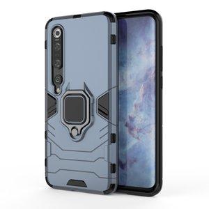 Pour le cas Xiaomi Mi 10Pro 10 antichocs Pare-chocs Téléphone cas pour Xiaomi Mi 10Lite Armure Holder Anneau Boîtier métallique pour Xiaomi Note 10 Pro
